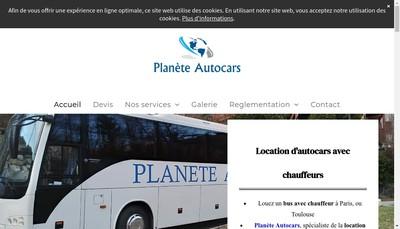 Site internet de Planete Autocars