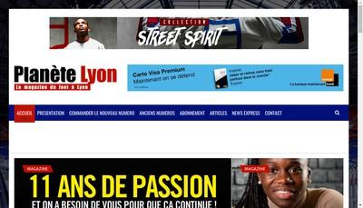 Site internet de Planete Lyon