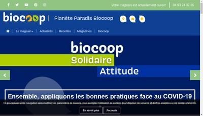 Site internet de Biocoop Vence
