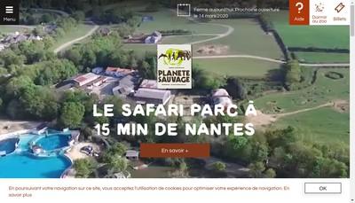 Site internet de Planete Sauvage