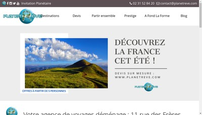 Site internet de Planet'Reve