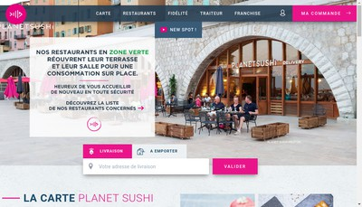 Site internet de Planet Sushi