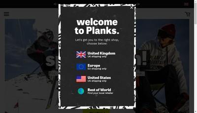 Site internet de Planks Clothing France