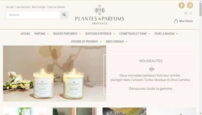 Site internet de Plantes & Parfum Group