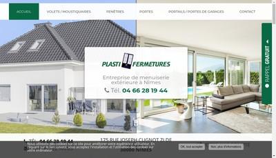 Site internet de Plasti-Fermetures