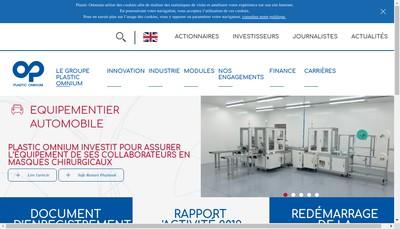 Site internet de Plastic Omnium Auto Exterieur