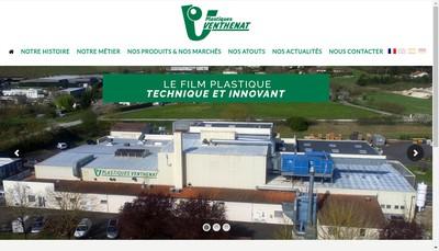 Site internet de Plastiques Venthenat et Compagnie