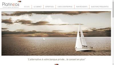 Site internet de Platineos