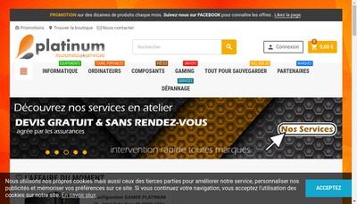 Site internet de Platinum Informatique