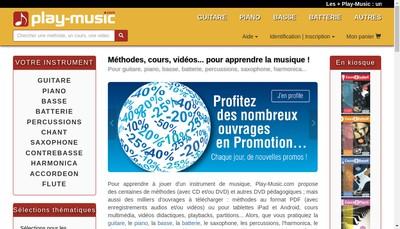 Site internet de Play Music Publishing