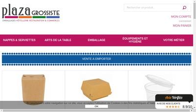 Site internet de Plaza Grossiste