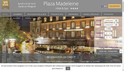 Site internet de Hotel de la Madeleine