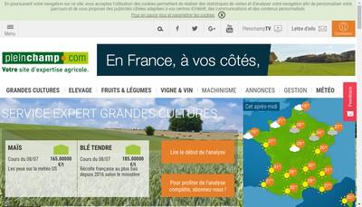 Site internet de Pleinchamps