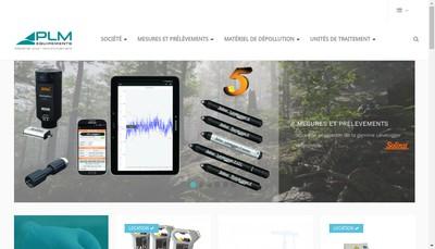 Site internet de Plm Equipements