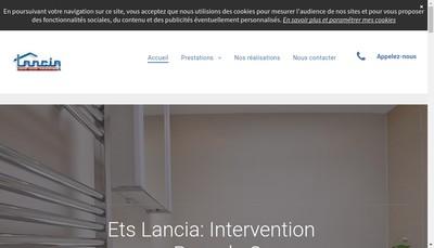Site internet de SARL Lancia Rene