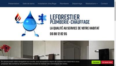 Site internet de Leforestier Plomberie