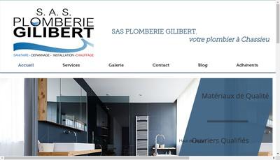 Site internet de Plomberie Gilibert