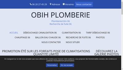 Site internet de Obih Plomberie