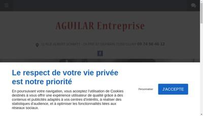 Site internet de Entreprise Aguilar
