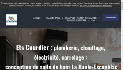 Site internet de Etablissements Courdier Franck