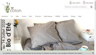 Site internet de Plus de Coton