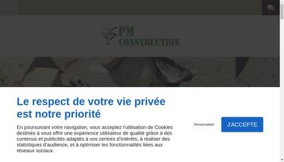 Site internet de PM Construction