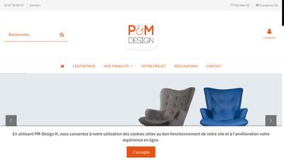 Site internet de P&M Design