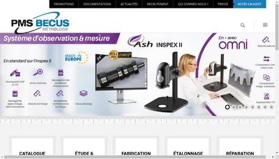 Site internet de Pms Becus Metrologie