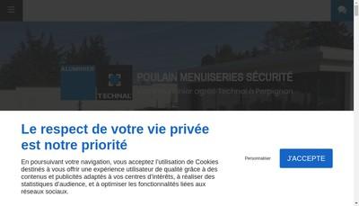 Site internet de Poulain Menuiserie Securite