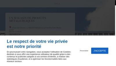 Site internet de Pna (Pascal Negoce Aciers)