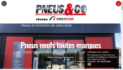 Site internet de Pneus & Co