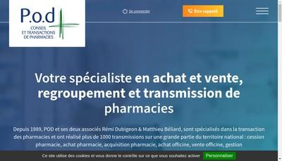Site internet de POD par Abreviation de Pharmacie Organisation Developpement