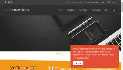 Site internet de Pod Technologies