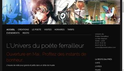 Site internet de Univers du Poete Ferrailleur