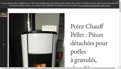 Site internet de Point Chauff Pellet