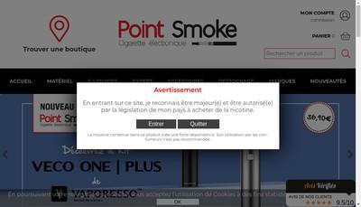 Site internet de Point Smoke
