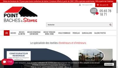 Site internet de SARL Point Baches