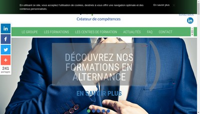 Site internet de Societe Point Formation et Promotion Sociale