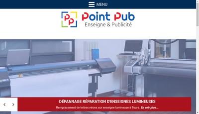 Site internet de Point Pub Touraine