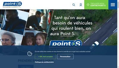 Site internet de Point S