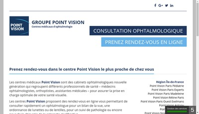 Site internet de Centre Medical Ophtalmologique Point Vision Strasbourg-Hochfelden