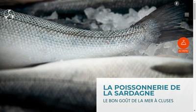 Site internet de Poissonnerie de la Sardagne