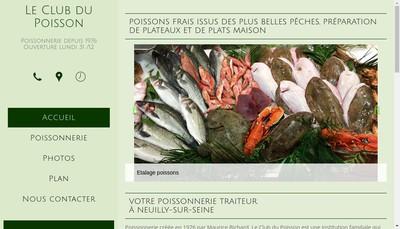 Site internet de Le Club du Poisson