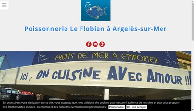 Site internet de Poissonnerie le Flobien