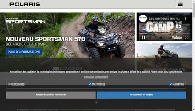 Site internet de Polaris France