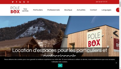 Site internet de Pole Box