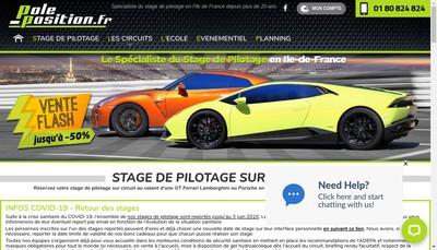 Site internet de Pole Position