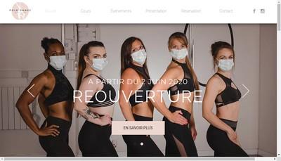 Site internet de Pole Dance Orleans