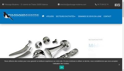 Site internet de Polissage Moderne