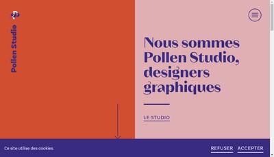 Site internet de Pollen Studio